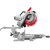 12 In. Worm Drive Dual Bevel Sliding Miter Saw; Diablo blade