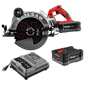 10-1/4 IN. TRUEHVL™ CORDLESS WORM DRIVE SKILSAW WITH 2 TRUEHVL™ BATTERIES, SKIL BLADE