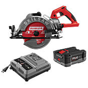 7-1/4 IN. TRUEHVL™ CORDLESS WORM DRIVE SKILSAW WITH TRUEHVL™ BATTERY, DIABLO BLADE