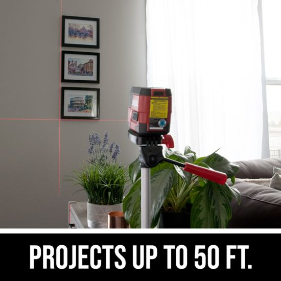 Projects up to 50 ft.