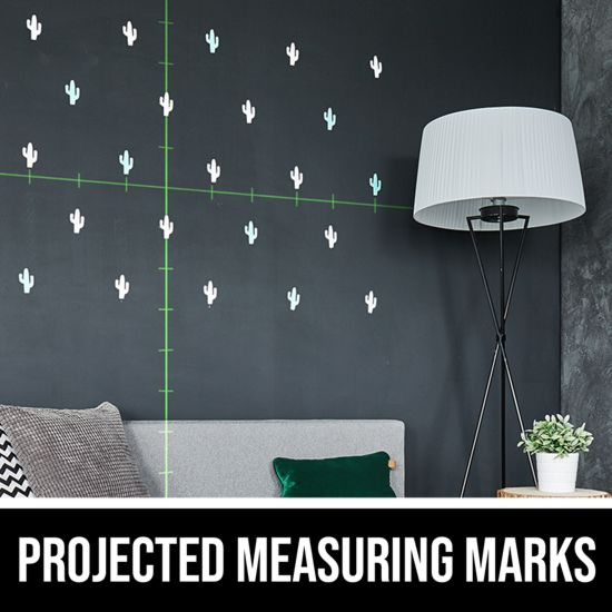 Projected measuring marks