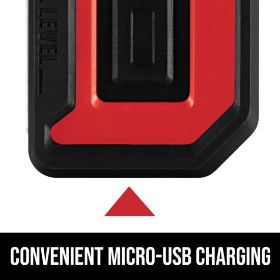 Convenient Micro-USB charging