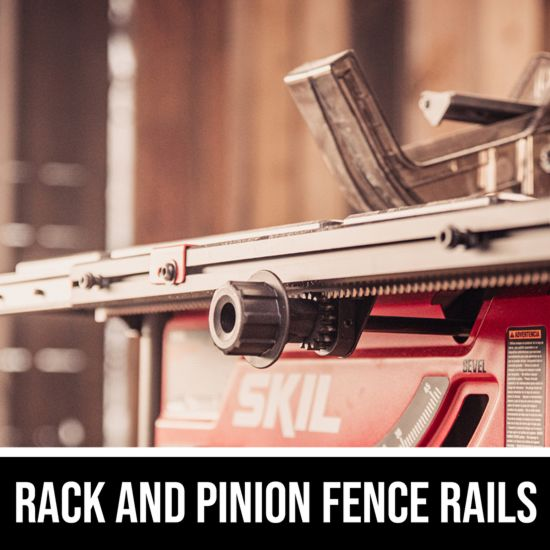 Rack and Pinion Fence Rails