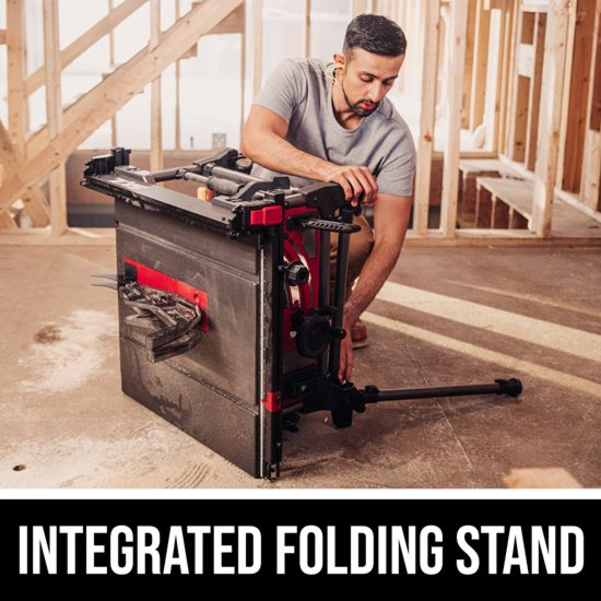 Integrated folding stand