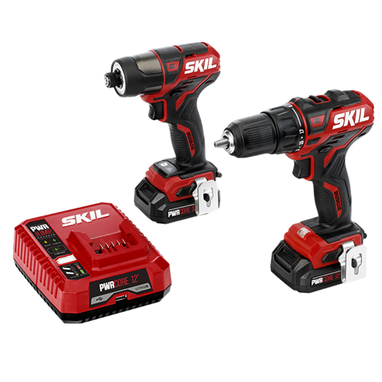 PWR CORE 12 Brushless 12V Drill Driver & Impact Driver Kit (2 batteries, PWR JUMP charger)