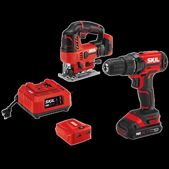 20V 3-Tool Kit: Drill Driver, Jigsaw, PWRAssist™ USB Adapter
