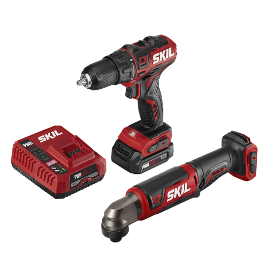 PWR CORE 12™ Brushless 12V Drill Driver & Right Angle Impact Driver Kit