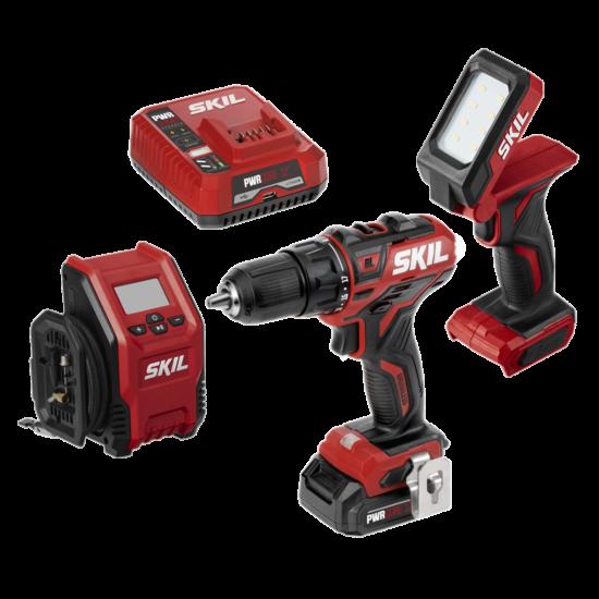 PWR CORE 12™ Brushless 12V 3-Tool Combo Kit: Drill Driver, Inflator & Area Light