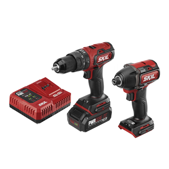 PWR Core 20™ Brushless 20V Heavy Duty Hammer Drill & Impact Driver Kit