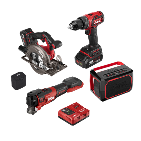 PWR CORE 20™ Brushless 20V 4-Tool Combo Kit