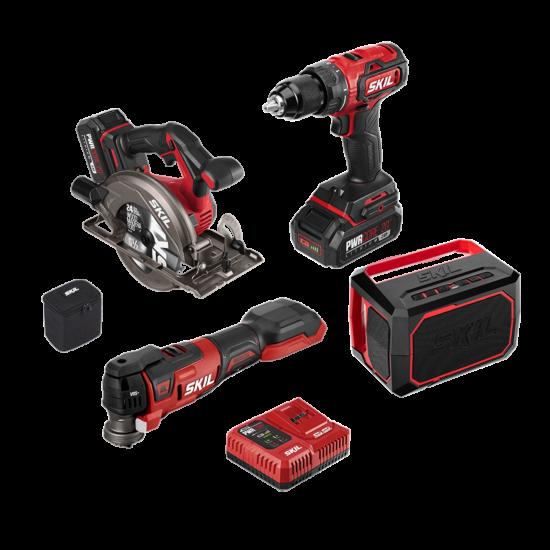 PWR CORE 20™ Brushless 20V 4-Tool Combo Kit