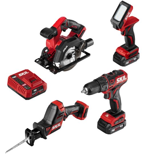 PWR CORE 12™ Brushless 12V 4-Tool Combo Kit with PWR JUMP™ Charger