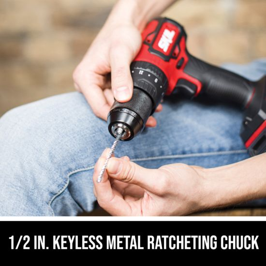 1/2 IN. keyless metal ratcheting chuck