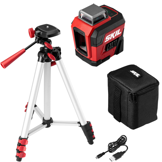 Self-Leveling 360 Degree Green Cross Line Laser with Tripod Kit