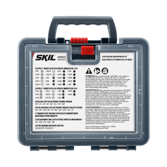 115 Piece Drilling and Driving Bit Kit