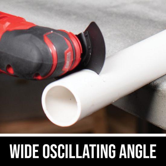 Wide oscillating angle