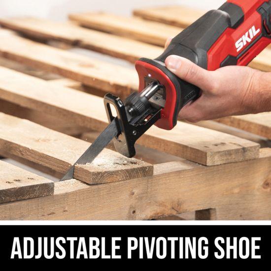 Adjustable pivoting shoe