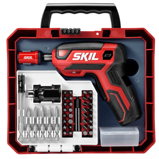 Rechargeable 4V Screwdriver with 42 PC Bit Kit