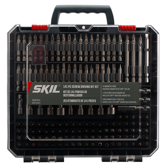 141pc Screw Driving Kit with Bit Grip