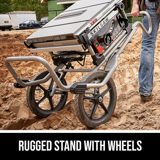 Rugged stand with wheels