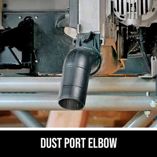 Dust port elbow