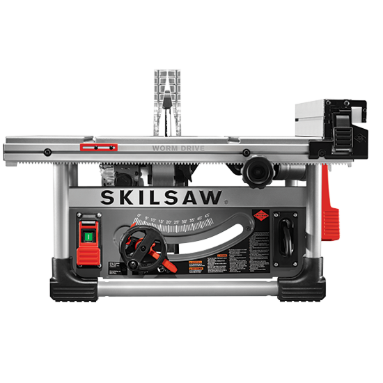 10 In. Heavy Duty Worm Drive Table Saw With Stand; SKIL Blade