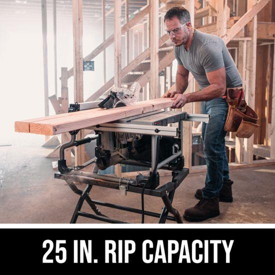 25 IN. Rip capacity
