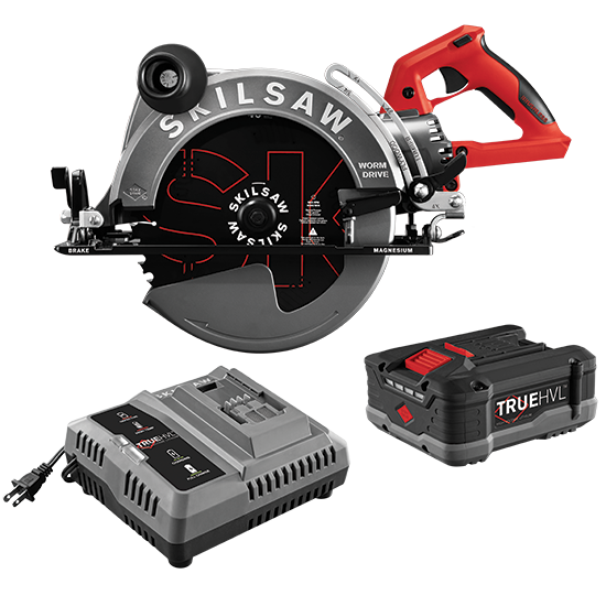 10-1/4 IN. TRUEHVL™ CORDLESS WORM DRIVE SKILSAW WITH TRUEHVL™ BATTERY, SKIL BLADE