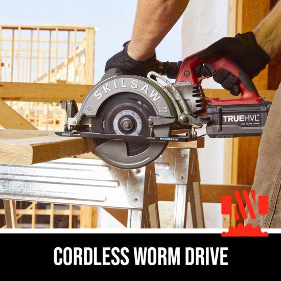 Cordless worm drive