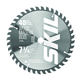 7-1/4-Inch 40-Tooth Carbide Tipped Saw Blade