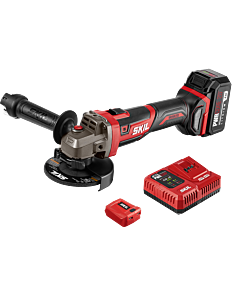 "PWR CORE 20™ Brushless 20V 4-1/2"" Angle Grinder Kit with 5.0Ah Battery and PWR ASSIST™ USB Adapter"