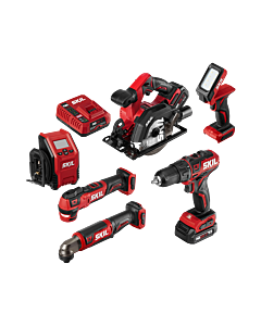 PWR CORE 12™ Brushless 6-Tool Combo Kit with PWR JUMP™ Charger