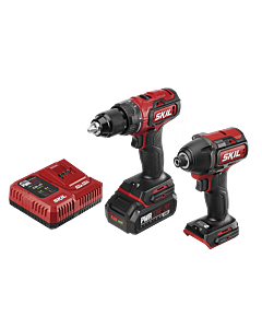 PWR Core 20™ Brushless 20V Drill Driver & Impact Driver Kit with PWR JUMP™ Charger