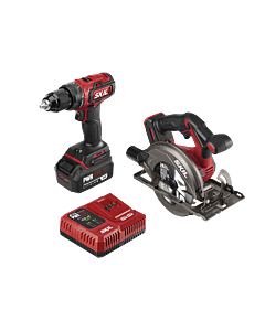 PWR Core 20™ Brushless 20V Drill Driver & Circular Saw Kit with PWR JUMP™ Charger