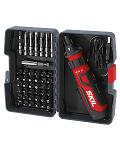 Rechargeable 4V Screwdriver with Circuit Sensor™ Technology w/ 45 pc. Bit Kit Case