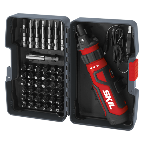 Rechargeable 4V Screwdriver with Circuit Sensor™ Technology