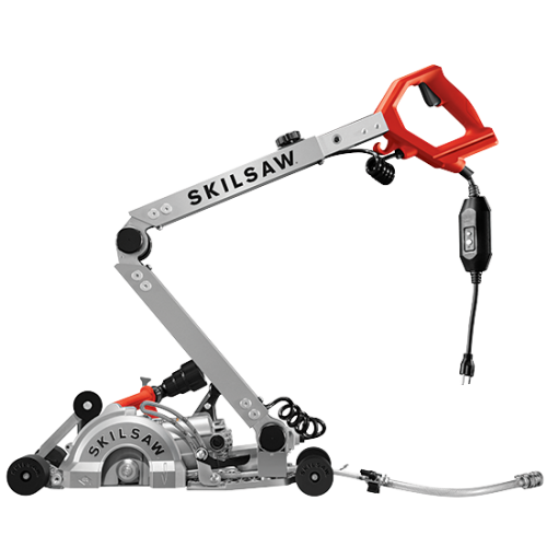 7 In. Walk Behind Worm Drive Skilsaw for Concrete