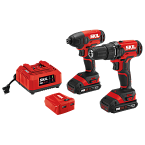 PWR CORE 20™ 20V 3-Tool Kit: Drill Driver, Impact Driver, PWR ASSIST™ USB Adapter (2 batteries)