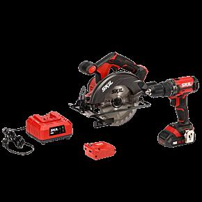 PWR CORE 20™ 20V 3-Tool Kit; Drill Driver, Circular Saw, PWRAssist™ USB Adapter