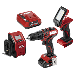 PWR CORE 12™ Brushless 12V 3-Tool Combo Kit: Drill Driver, Inflator & Area Light