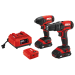 20V 3-Tool Kit: Drill Driver, Impact Driver, PWR ASSIST™ USB Adapter, Two PWR CORE 20™ 2.0Ah Batteries