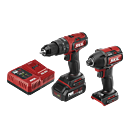 PWR Core 20™ Brushless 20V Heavy Duty Hammer Drill & Impact Driver Kit with PWR JUMP™ Charger