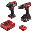 PWR CORE 20™ Brushless 20V Hammer Drill and Impact Driver with 4.0Ah Battery and Auto PWR JUMP™ Charger