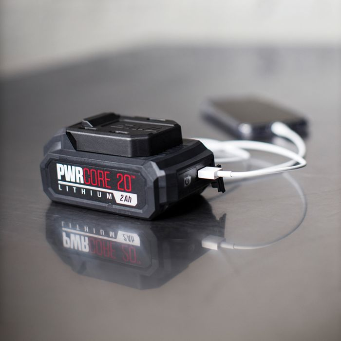 20V 2.0Ah PWR CORE 20™ Lithium Battery with PWR ASSIST™ Mobile Charging