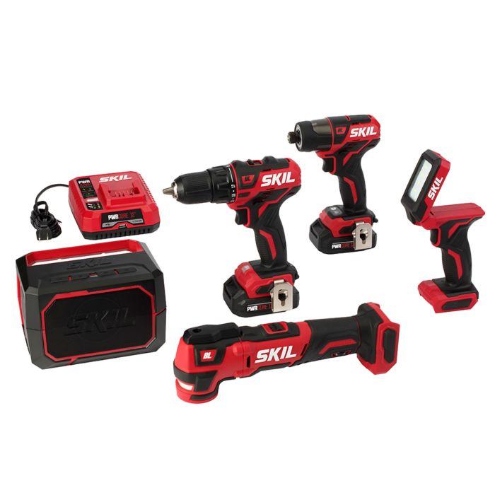 PWR CORE 12™ Brushless 12V 5-Tool Combo Kit