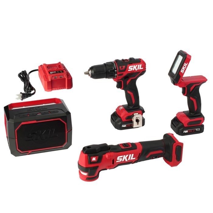 PWRCore 12™ Brushless 12V 4-Tool Combo Kit