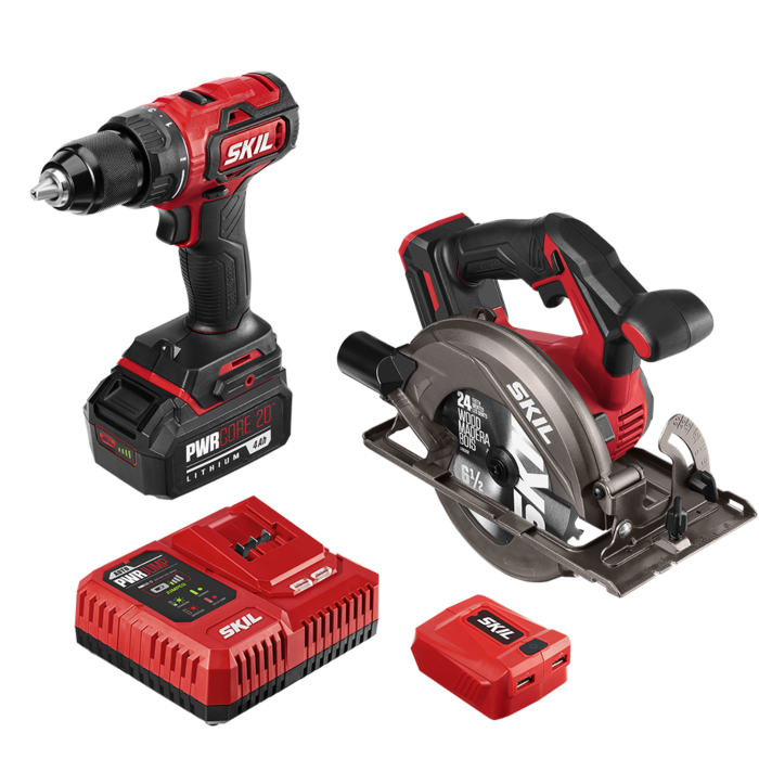PWR Core 20™ Brushless 20V  Drill Driver and Circular Saw Kit with 4.0Ah Battery