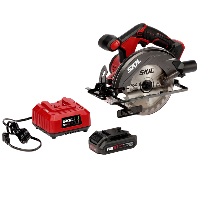 20V 6-1/2'' Circular Saw Kit with PWRCore 20™ 2.0Ah Lithium Battery