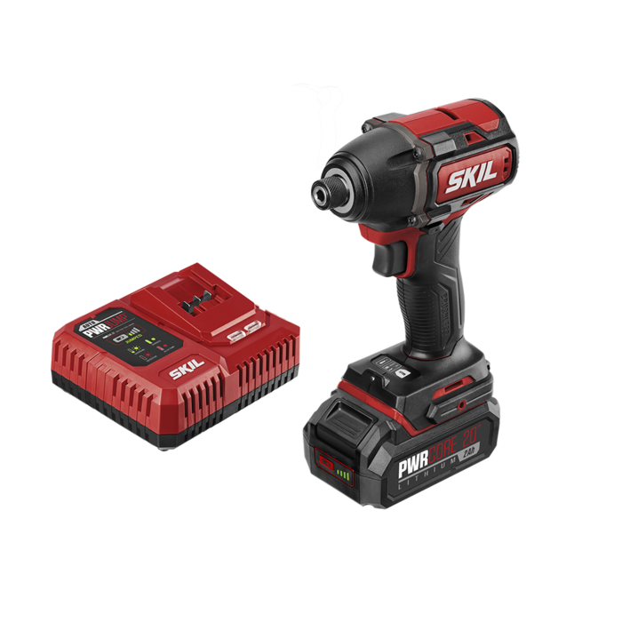 PWRCore 20™ Brushless 20V 1/4'' Hex Impact Driver Kit with PWRJUMP™ Charger