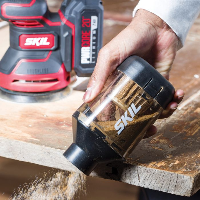 PWR CORE 20™ Brushless 20V Random Orbital Sander Kit with PWR JUMP™ Charger